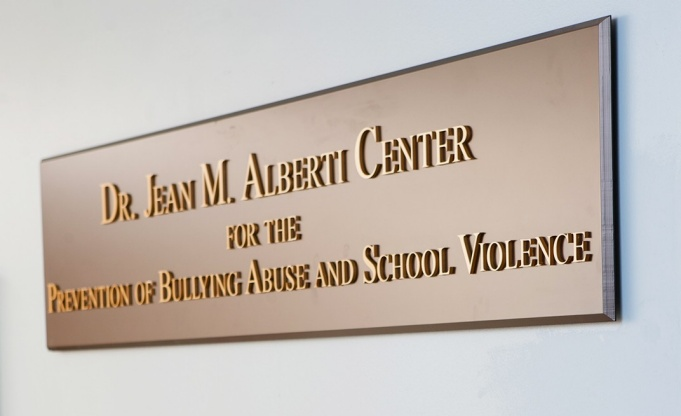 Alberti Bullying Center sign.