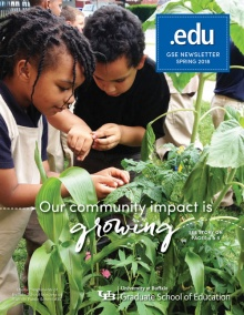 Cover image for the spring 2018 issue of .edu magazine.