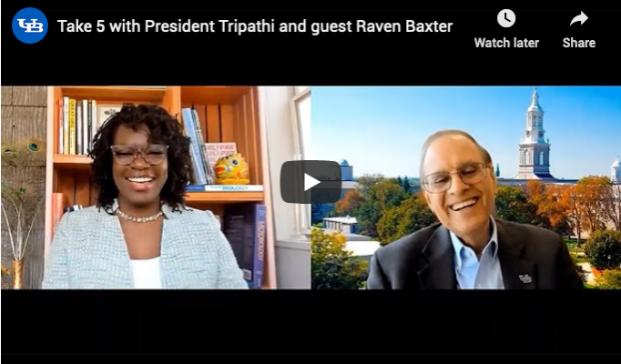 Raven Baxter and Satish Tripathi meet on Zoom.
