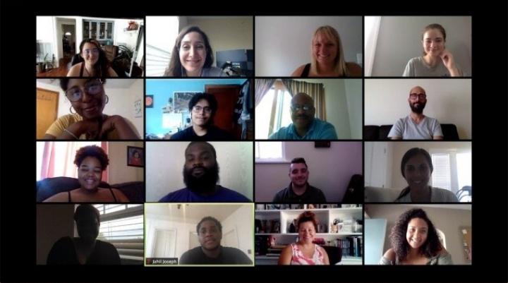 Screen capture of the UB Teacher Residents second cohort.