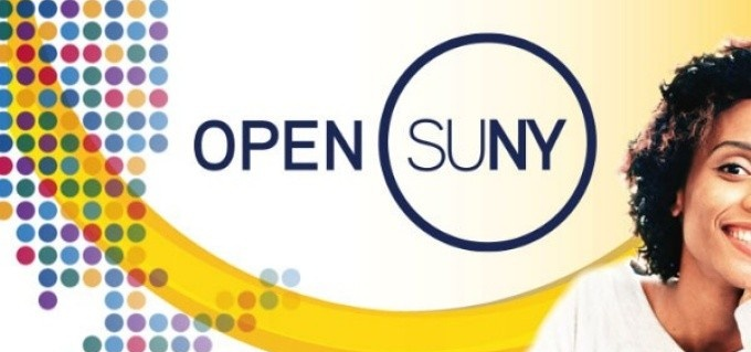 Open SUNY graphic with portrait of student.