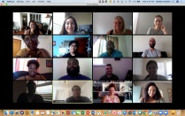 Screen shot of members of the UB Teacher Residency Program's second cohort participating in a Zoom session.