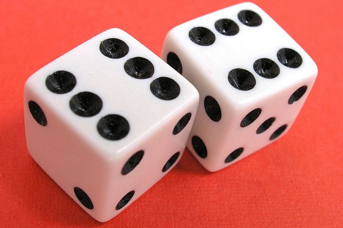 Dice with double sixes showing.